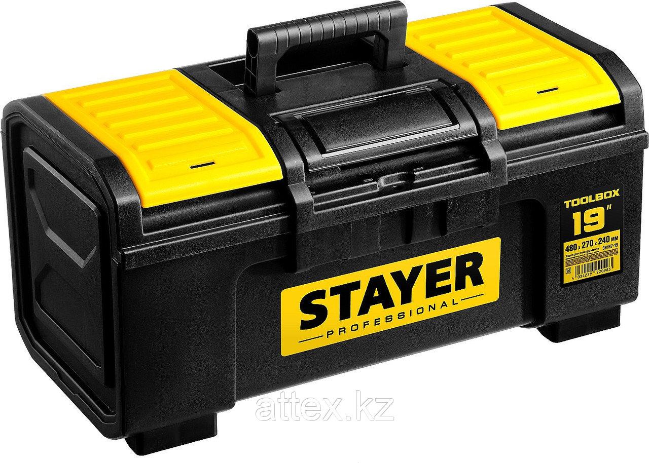 """Ящик для инструмента """"TOOLBOX-19"""" пластиковый, STAYER Professional 38167-19"""