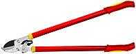 Сучкорез GRINDA с упорной наковальней, храповый механизм, стальные ручки, макс. диам. реза - 40мм, 780мм 424111