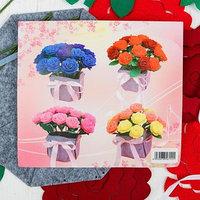 Набор для создания букета из фетра 'Розы', цвет красный