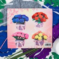 Набор для создания букета из фетра 'Розы', цвет синий