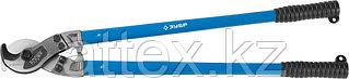 """Кабелерез ЗУБР """"ЭКСПЕРТ"""" для резки небронированного кабеля из цв металлов,сталь У8А, кабель сечением до 150 мм2, 600мм 23341-60"""