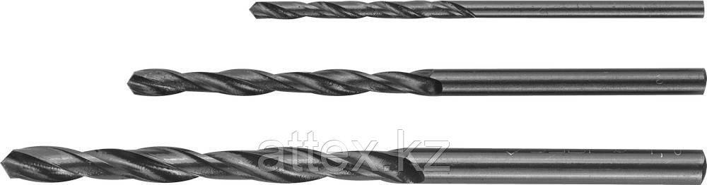 Набор сверл по металлу 3 шт (d=2-4 мм), быстрорежущая сталь, класс В, ЗУБР 4-29605-H3