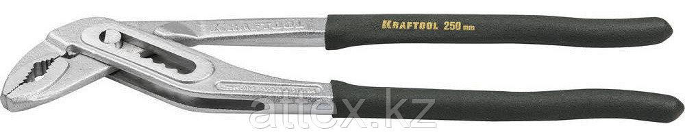 """Клещи KRAFTOOL """"EXPERT"""" переставные, узкие губки, CrV, захват до 45мм/ 1 1/4"""", 250мм 22358-25"""
