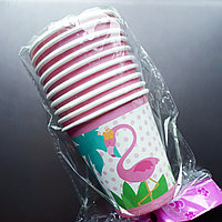 "Одноразовые бумажные стаканы ""Фламинго"""