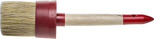 "Кисть круглая STAYER ""MASTER"", светлая натурал. щетина, пластм. корпус, деревян. ручка, №22 x70мм 0141-70"