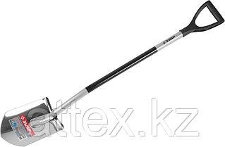 """Лопата ЗУБР """"ЭКСПЕРТ"""" из нержавеющей стали, алюминиевый черенок, 280х190х1200мм 39407"""