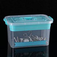 Контейнер для хранения с крышкой и вкладышем 'Рукоделие', 10 л, 35x23x19 см, цвет МИКС