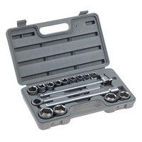 Набор инструментов в кейсе TUNDRA, автомобильный, закаленная сталь, 1/2', 17 предметов