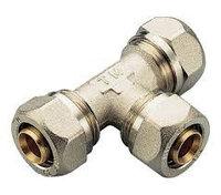Тройник 32-26-32 для металлопластиковых труб