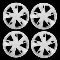 Колпаки колесные R16 'СУПЕР АСТРА', белый глянец карбон, набор 4 шт.