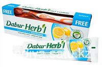 Зубная паста Dabur Herb l Salt & Lemon (соль и лимон), 150 г. + зубная щётка