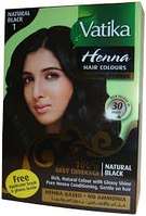 """Краска для волос с хной Vatika Henna Natural Black """"Естественный чёрный"""""""
