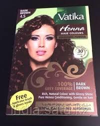 """Краска для волос с хной Vatika Henna Dark brown """"Темно-коричневый"""""""