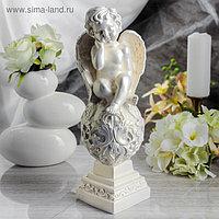 """Статуэтка """"Ангел на шаре"""" 36 см, перламутровая"""