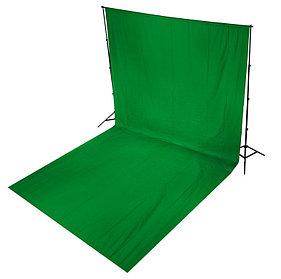 Зелёный фон 6х3 м Студийный, тканевый