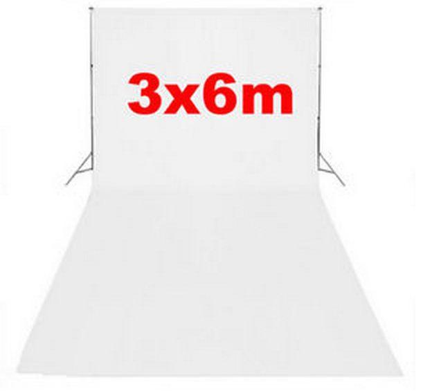Студийный тканевый фон 6 м × 3 м белый