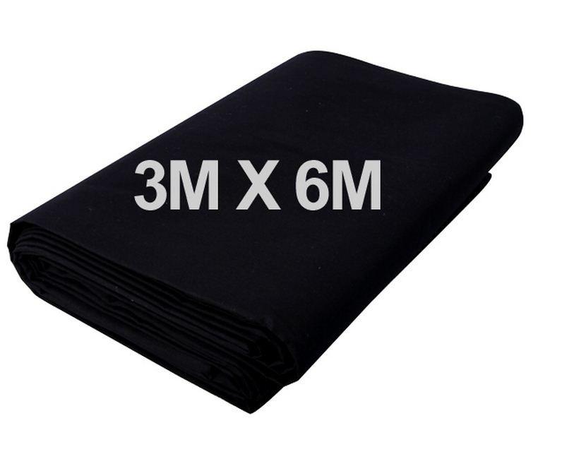 Студийный тканевый фон 6 м × 3 м чёрный