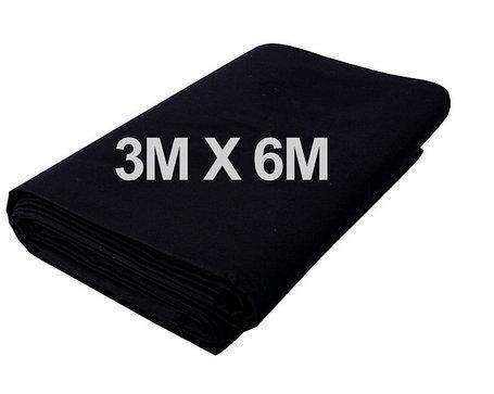 Студийный тканевый фон 6 м × 3 м чёрный, фото 2