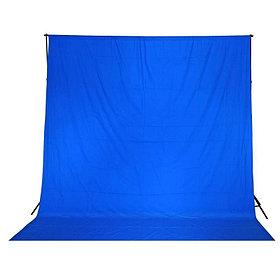 Синий фон 6х3 м Студийный, тканевый