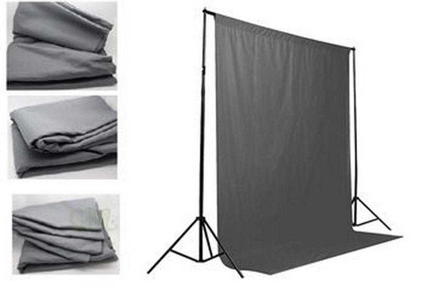 Студийный тканевый фон 6 м × 3 м серый