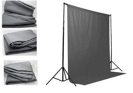 Серый фон 6х3 м Студийный, тканевый, фото 2