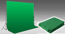 Студийный тканевый фон 4 м × 2,3 м зелёный, фото 2