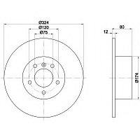 Тормозные диски BMW X5 (E53) объем 3.0-4.4 (задние, Meyle , D324)