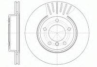 Тормозные диски Bmw 3 (E46) объем 2.0-2.8  (передние, RoadHouse), D300)