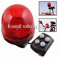 Сигнал звуковой светодиодный на велосипед JY-2510 (4 звука) красный