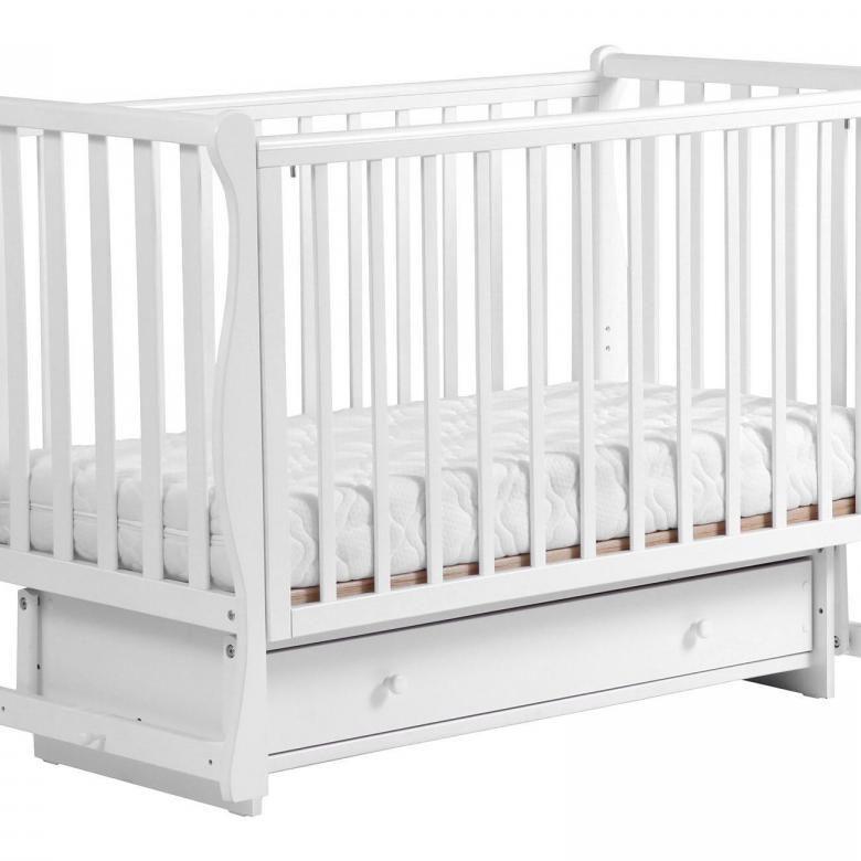 ЛЕЛЬ Кровать детская КУБАНОЧКА-1 маятниковая Белый