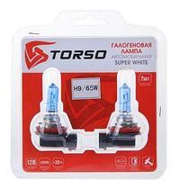 Комплект галогенных ламп TORSO H9, 4200 K, 12 В, 65 Вт, 2 шт., SUPER WHITE