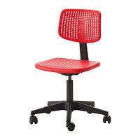 Стул компьютерный АЛЬРИК красный ИКЕА, IKEA , фото 1