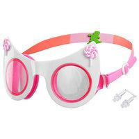 Очки для плавания 'Кошечка', детские, цвет белый