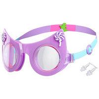 Очки для плавания 'Кошечка', детские, цвет фиолетовый