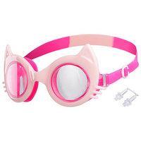 Очки для плавания 'Кошечка', детские, цвет нежно-розовый