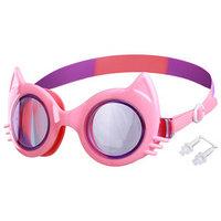 Очки для плавания 'Кошечка', детские, цвет розовый