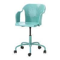 Компьютерный стул РОБЕРГЕТ бирюзовый ИКЕА Астана, IKEA Казахстан, фото 1