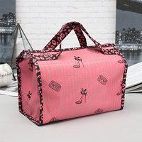 Косметичка-сумочка, отдел на молнии, цвет розовый