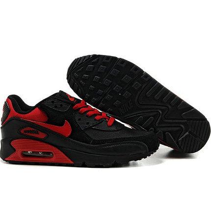 Кроссовки Nike Air Max 90 черно-красные , фото 2