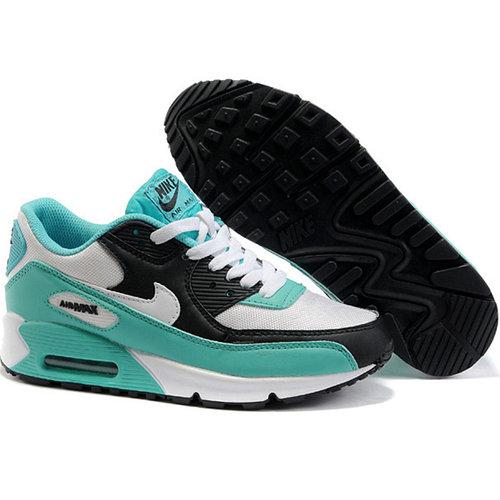 Кроссовки Nike Air Max 90 белый зеленый и черный