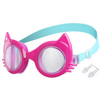 Очки для плавания 'Кошечка', детские, цвет фуксия
