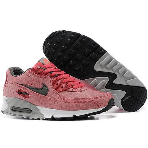 Nike Air Max 90 кроссовки розовые,текстиль