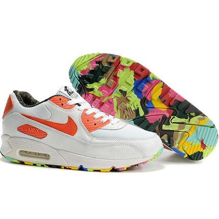 Nike Air Max 90 кроссовки белый с оранжевым, фото 2