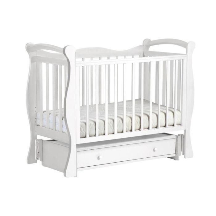 ЛЕЛЬ Кровать детская КУБАНОЧКА-10 маятниковая Белый