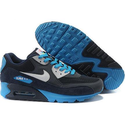 Nike Air Max 90 кроссовки черно-синие, фото 2