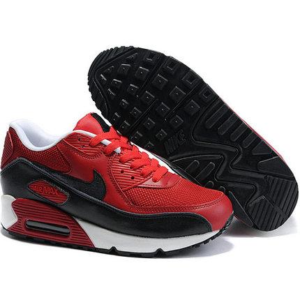 Nike Air Max 90 кроссовки красно-черные, фото 2