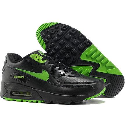 Nike Air Max 90 кроссовки черные с зеленым, фото 2