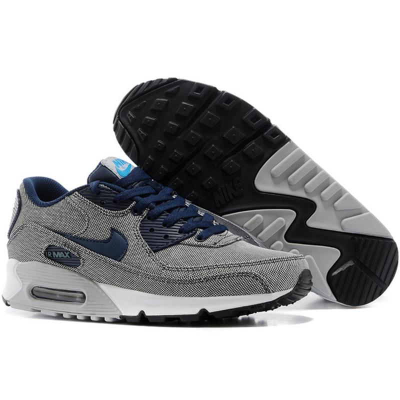 Nike Air Max 90 кроссовки серые, текстиль