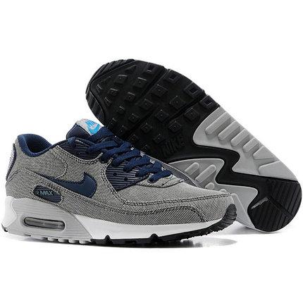 Nike Air Max 90 кроссовки серые, текстиль, фото 2