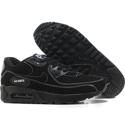 Nike Air Max 90 кроссовки черные,замша